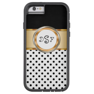 Classy Gold Monogram Tough Xtreme iPhone 6 Case