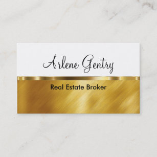 Real estate broker business cards business card printing zazzle classy gold real estate business cards reheart Image collections