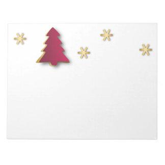 Classy Gold Red Christmas Tree - Notepad