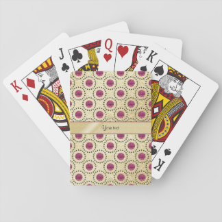 Classy Gold With Pink Glitter Dots Playing Cards