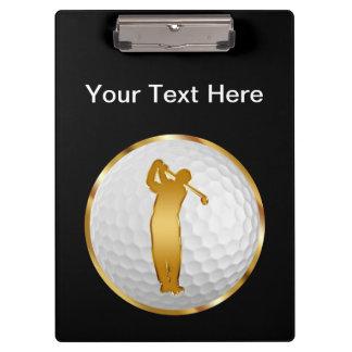 Classy Golf Instructor Clipboard