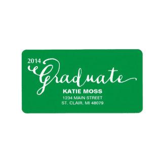 CLASSY Graduation Address Label  |  Green