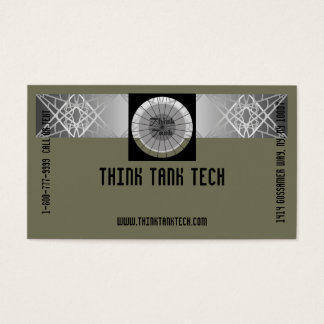 Classy Grey Technology Eye-Catching Tech Biz Business Card