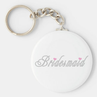 Classy Greys Bridesmaid Basic Round Button Key Ring
