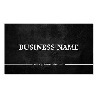 Classy Grunge Dark Optometrist Pack Of Standard Business Cards