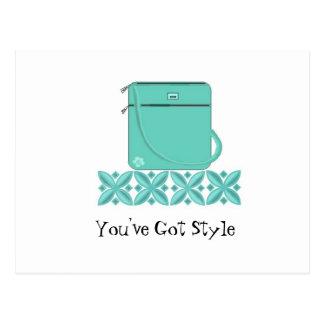 Classy Handbag with Saying Postcard
