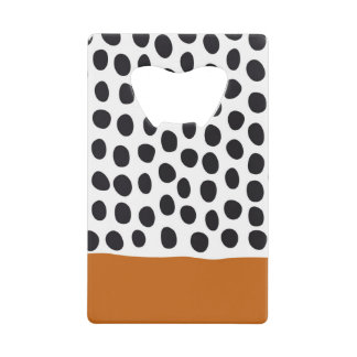 Classy Handpainted Polka Dots with Autumn Maple