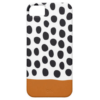 Classy Handpainted Polka Dots with Autumn Maple Barely There iPhone 5 Case
