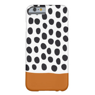 Classy Handpainted Polka Dots with Autumn Maple Barely There iPhone 6 Case
