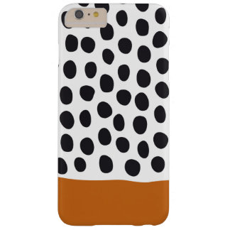 Classy Handpainted Polka Dots with Autumn Maple Barely There iPhone 6 Plus Case