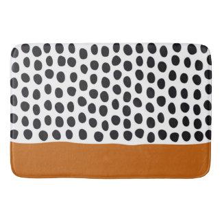 Classy Handpainted Polka Dots with Autumn Maple Bath Mat