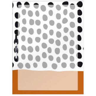 Classy Handpainted Polka Dots with Autumn Maple Dry Erase Board