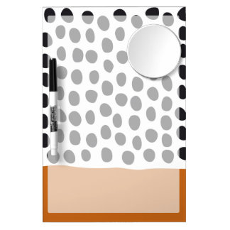 Classy Handpainted Polka Dots with Autumn Maple Dry Erase Board With Mirror