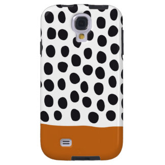 Classy Handpainted Polka Dots with Autumn Maple Galaxy S4 Case