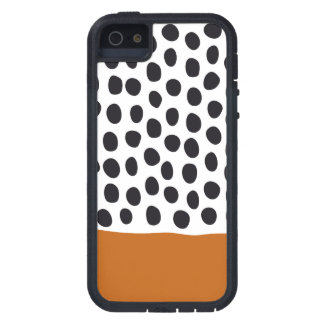 Classy Handpainted Polka Dots with Autumn Maple iPhone 5 Cover