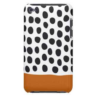 Classy Handpainted Polka Dots with Autumn Maple iPod Case-Mate Cases