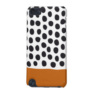 Classy Handpainted Polka Dots with Autumn Maple iPod Touch 5G Case