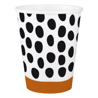 Classy Handpainted Polka Dots with Autumn Maple Paper Cup