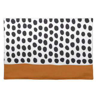 Classy Handpainted Polka Dots with Autumn Maple Placemat
