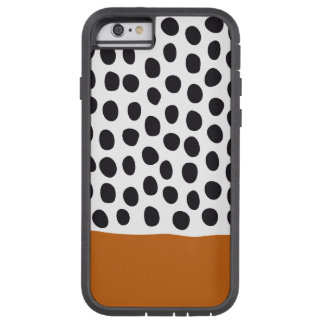 Classy Handpainted Polka Dots with Autumn Maple Tough Xtreme iPhone 6 Case