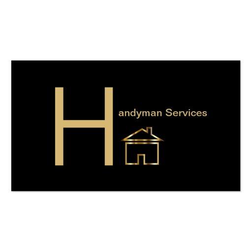 Classy Handyman Business Cards Business Card Templates