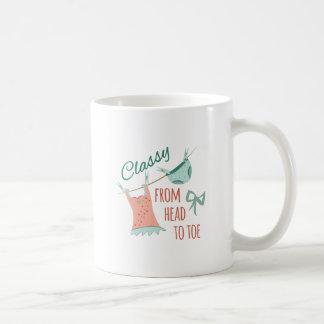 Classy Head To Toe Basic White Mug