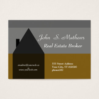 Classy Home Sales Real Estate Agent Business Card