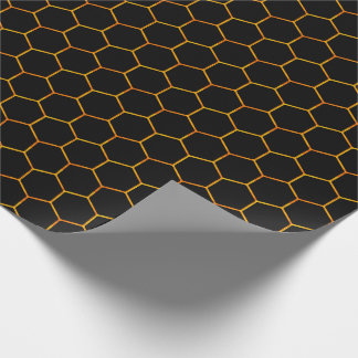 Classy Honeycomb pattern with has dark background Wrapping Paper