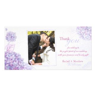 Classy Hydrangeas Wedding Thank You Card