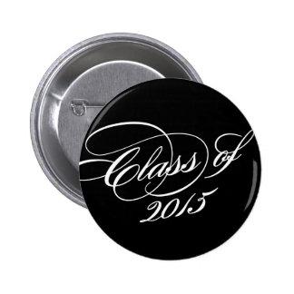 Classy in Black   Graduation Button