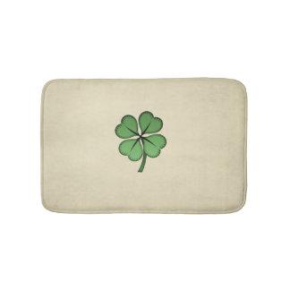 Classy Irish Lucky Shamrock Bath Mat