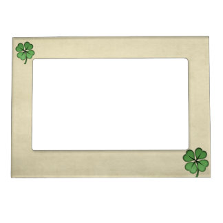 Classy Irish Lucky Shamrock Magnetic Frame