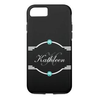 Classy Ladies Bling Monogram Style iPhone 8/7 Case