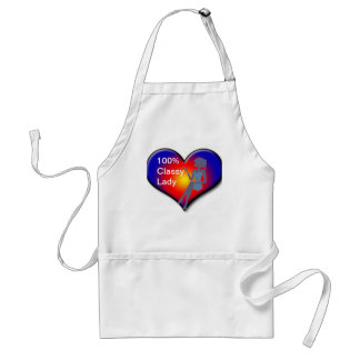 Classy Lady Silhouette apron Aprons