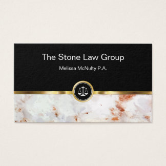 Classy Law Office Design Business Card