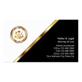 Classy Lawyer Business Cards Standard Business Cards