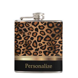 Classy Leopard Animal Print Hip Flask
