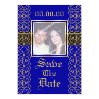 Classy Luxurious Save The Date Photo Invitations