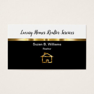 Classy Luxury Homes Realtor Business Card