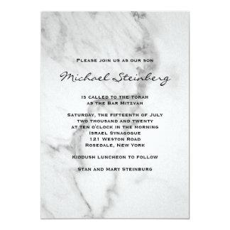 Classy Marble Bar Mitzvah Invitation