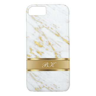 Classy Marble Monogram Design iPhone 8/7 Case
