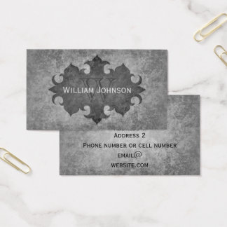 Classy medieval grunge business card