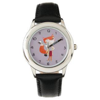 Classy Mod Fox Girl Wristwatch