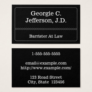 Classy & Modern Barrister At Law Business Card