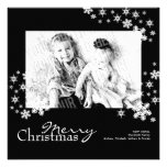 Classy Modern Black & White Photo Christmas Card Personalized Announcement