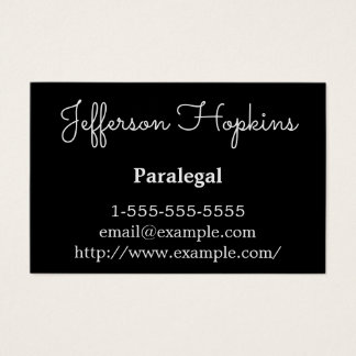 Classy & Modern Paralegal Business Card