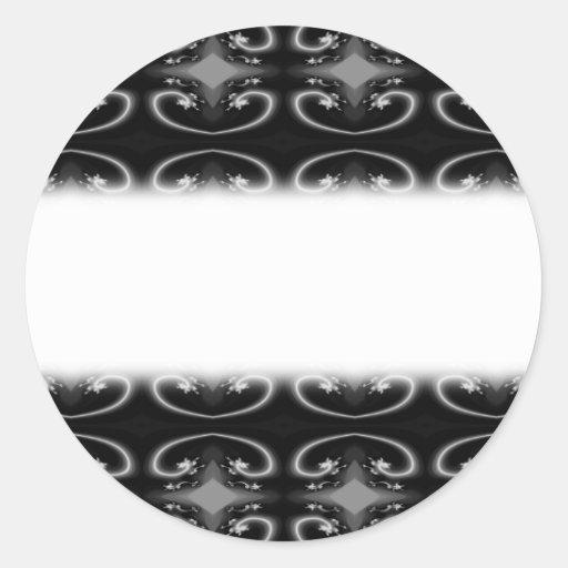 Classy Monochrome Swirl Pattern. Sticker