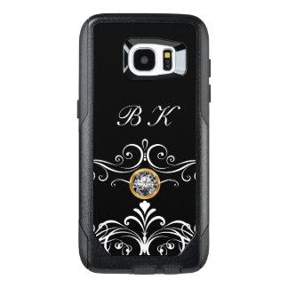 Classy Monogram Bling OtterBox Samsung Galaxy S7 Edge Case