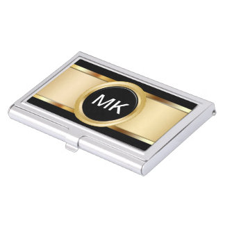 Classy Monogram Business Card Holders