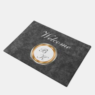 Classy Monogram Design Doormat